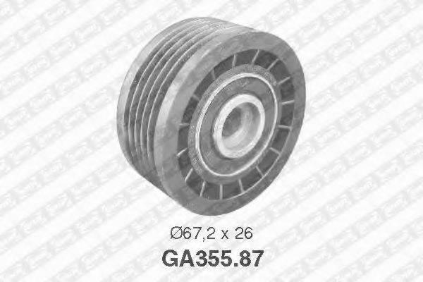 SNR GA35587 Паразитный / ведущий ролик, поликлиновой ремень