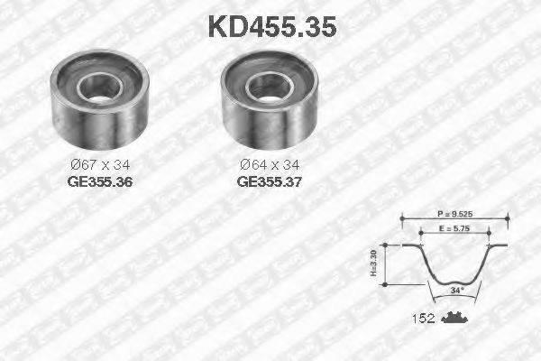 SNR KD45535 Комплект ремня ГРМ