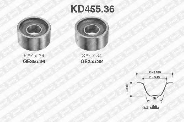 SNR KD45536 Комплект ремня ГРМ