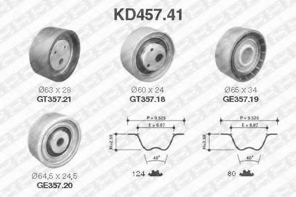 SNR KD45741 Комплект ремня ГРМ