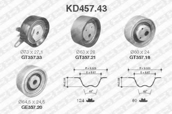 SNR KD45743 Комплект ремня ГРМ
