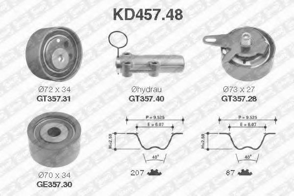 SNR KD45748 Комплект ремня ГРМ