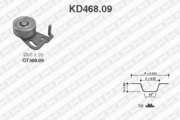 SNR KD46809 Комплект ремня ГРМ