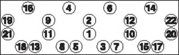 PAYEN HBS011 Комплект болтов головки цилидра