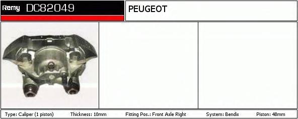DELCO REMY DC82049 Тормозной суппорт