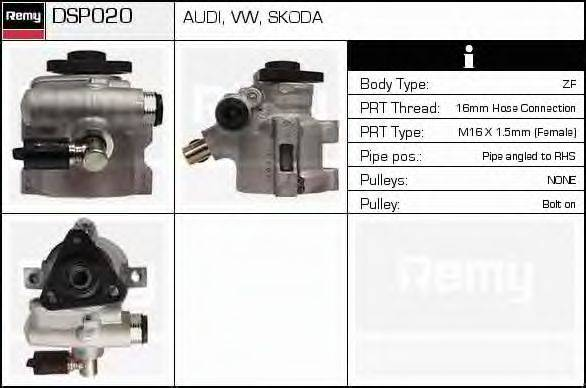 DELCO REMY DSP020 Гидравлический насос, рулевое управление