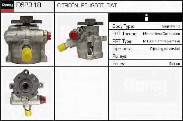 DELCO REMY DSP318 Гидравлический насос, рулевое управление