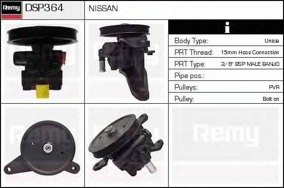 DELCO REMY DSP364 Гидравлический насос, рулевое управление