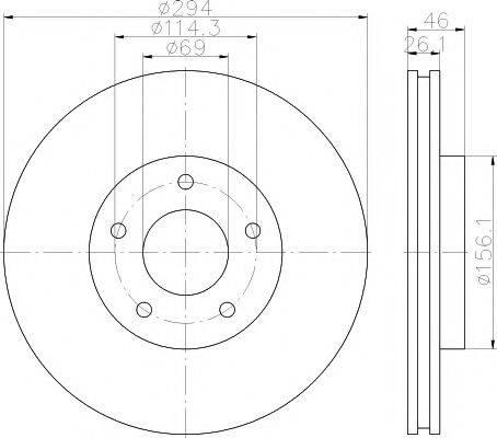 PAGID 54844 Тормозной диск