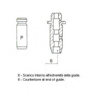 METELLI 012171 Направляющая втулка клапана