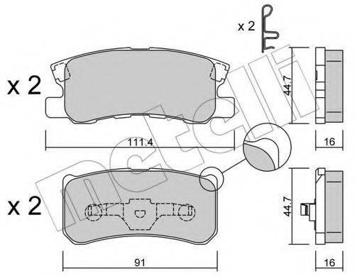 METELLI 2204001 Комплект тормозных колодок, дисковый тормоз