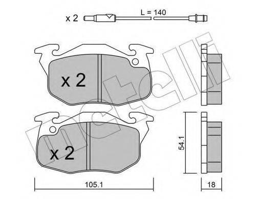 METELLI 2200372 Комплект тормозных колодок, дисковый тормоз