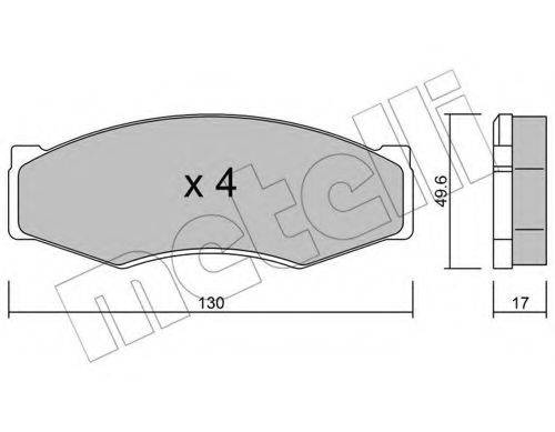 METELLI 2200660 Комплект тормозных колодок, дисковый тормоз