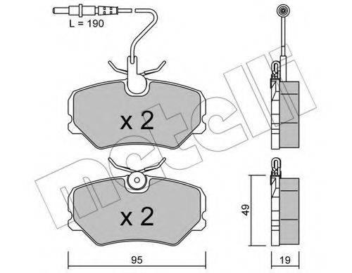 METELLI 2200990 Комплект тормозных колодок, дисковый тормоз