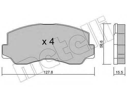 METELLI 2201120 Комплект тормозных колодок, дисковый тормоз