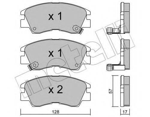 METELLI 2201150 Комплект тормозных колодок, дисковый тормоз