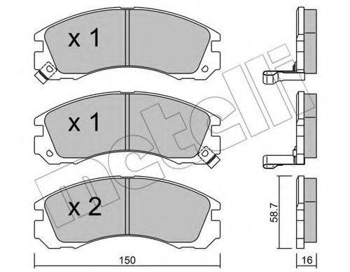 METELLI 2201340 Комплект тормозных колодок, дисковый тормоз