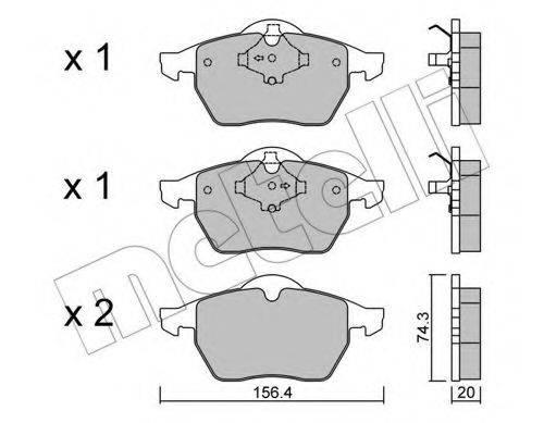 METELLI 2201811 Комплект тормозных колодок, дисковый тормоз