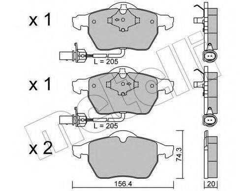 METELLI 2203140 Комплект тормозных колодок, дисковый тормоз
