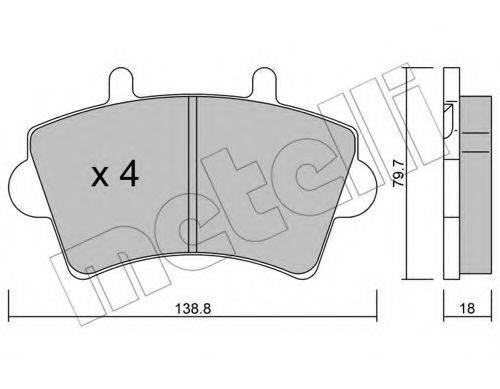 METELLI 2205450 Комплект тормозных колодок, дисковый тормоз