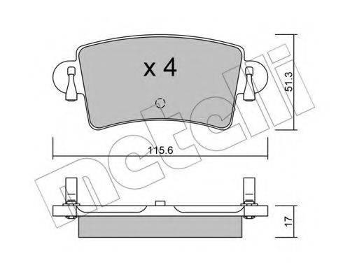METELLI 2205460 Комплект тормозных колодок, дисковый тормоз