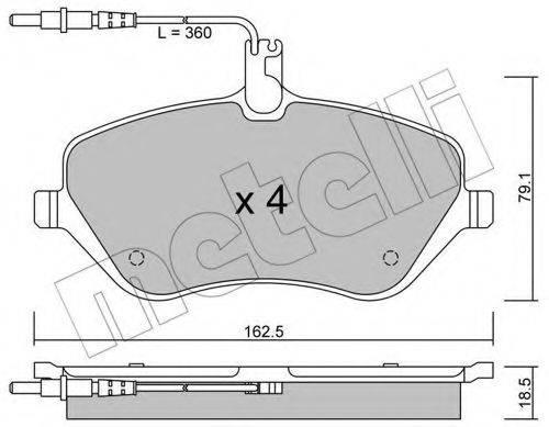 METELLI 2206010 Комплект тормозных колодок, дисковый тормоз