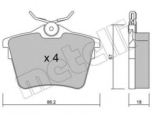 METELLI 2206020 Комплект тормозных колодок, дисковый тормоз