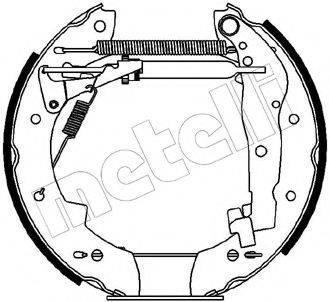 METELLI 510087 Комплект тормозных колодок