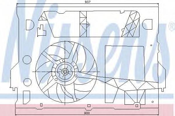NISSENS 85244 Вентилятор, охлаждение двигателя