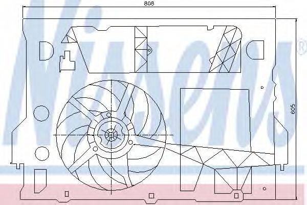 NISSENS 85245 Вентилятор, охлаждение двигателя