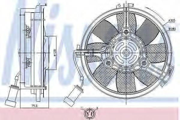 NISSENS 85546 Вентилятор, охлаждение двигателя