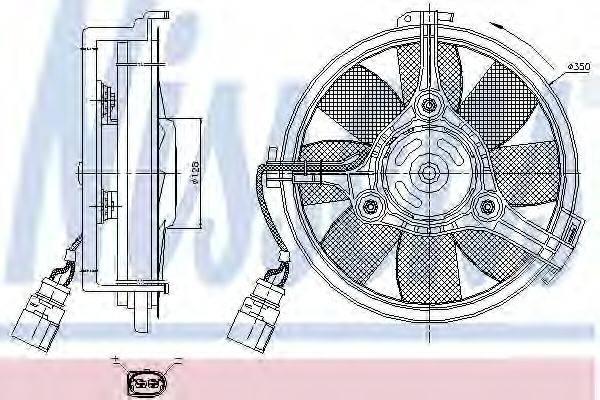 NISSENS 85547 Вентилятор, охлаждение двигателя