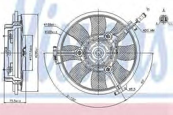 NISSENS 85691 Вентилятор, охлаждение двигателя