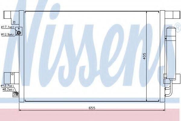 NISSENS 940029 Конденсатор, кондиционер