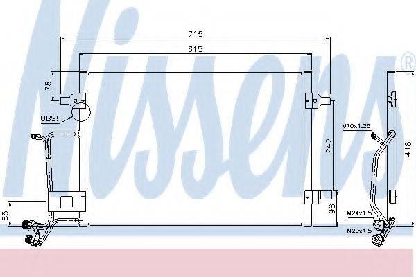 NISSENS 94594 Конденсатор, кондиционер