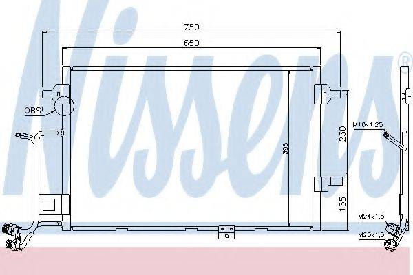 NISSENS 94430 Конденсатор, кондиционер