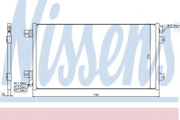 NISSENS 94659 Конденсатор, кондиционер