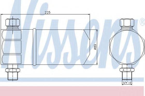 NISSENS 95115 Осушитель, кондиционер