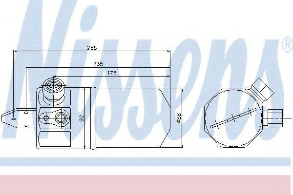NISSENS 95318 Осушитель, кондиционер