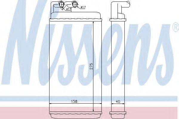 NISSENS 70220 Теплообменник, отопление салона