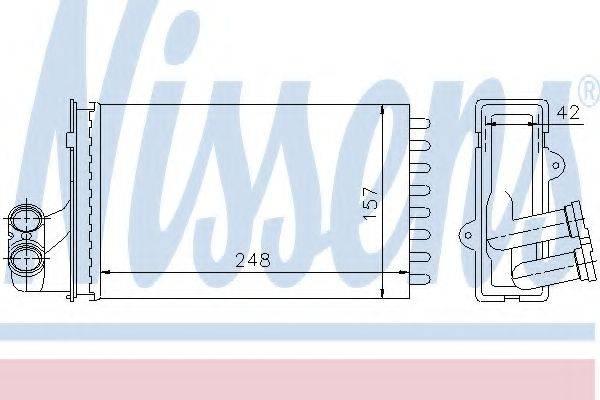 NISSENS 72984 Теплообменник, отопление салона