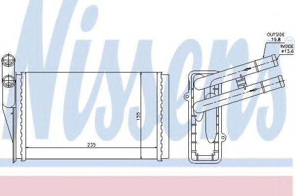 NISSENS 70224 Теплообменник, отопление салона