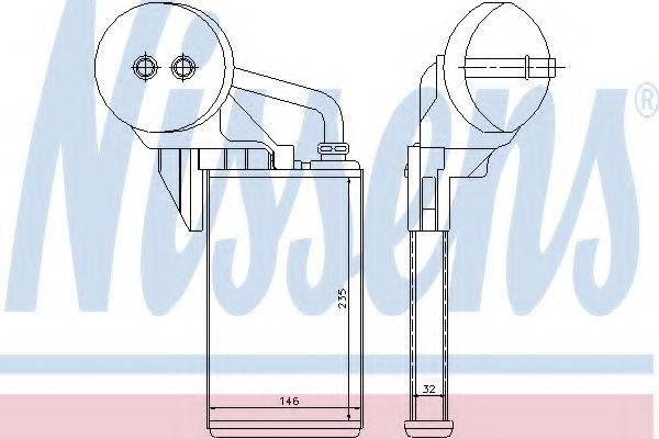 NISSENS 72207 Теплообменник, отопление салона