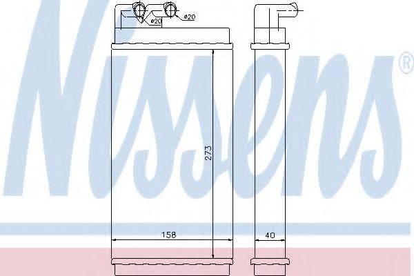 NISSENS 70230 Теплообменник, отопление салона
