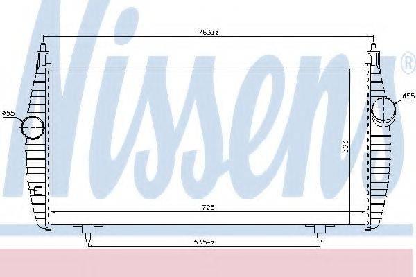 NISSENS 96617 Интеркулер