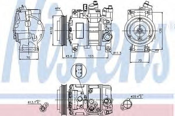 NISSENS 89049 Компрессор, кондиционер