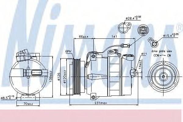 NISSENS 89054 Компрессор, кондиционер