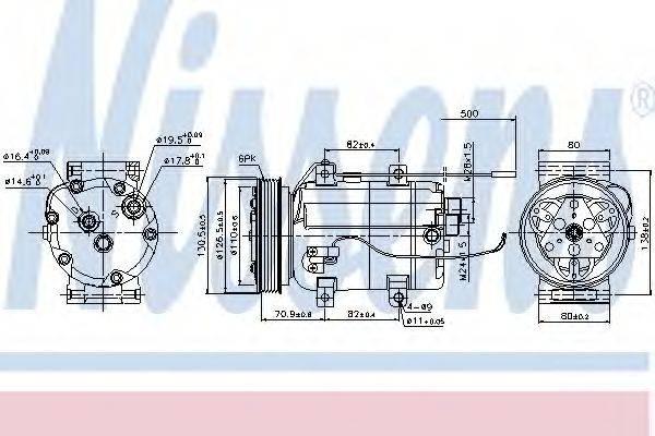 NISSENS 89101 Компрессор, кондиционер