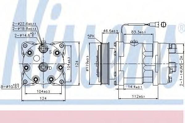 NISSENS 89171 Компрессор, кондиционер