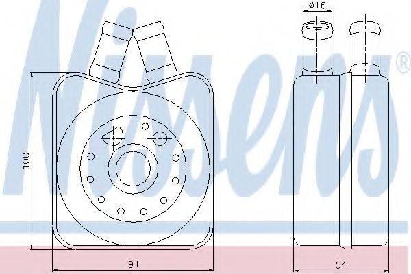 NISSENS 90606 масляный радиатор, двигательное масло